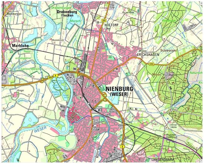 Anfahrtplan©Mittelweser Navigator
