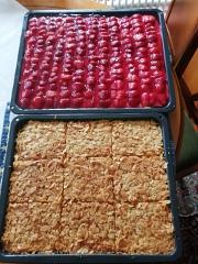 Erdbeer- und Mandelkuchen