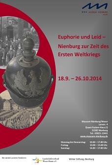 Euphorie und Leid - Nienburg zur Zeit des Ersten Weltkriegs©Museum Nienburg/Weser