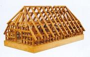 Modell eines niederdeutschen Hallenhauses