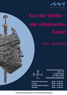 Plakat Karl der Große©Museumsverein für die Grafschaften Hoya, Diepholz und Wölpe