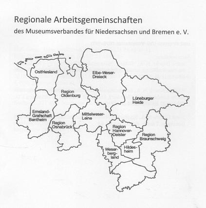 Regionale Arbeitsgemeinschaften©Museumsverband für Niedersachsen und Bremen e.V.